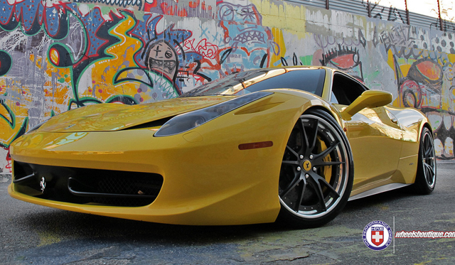 Yellow Ferrari 458 Italia By Wheels Boutique On Hre S104