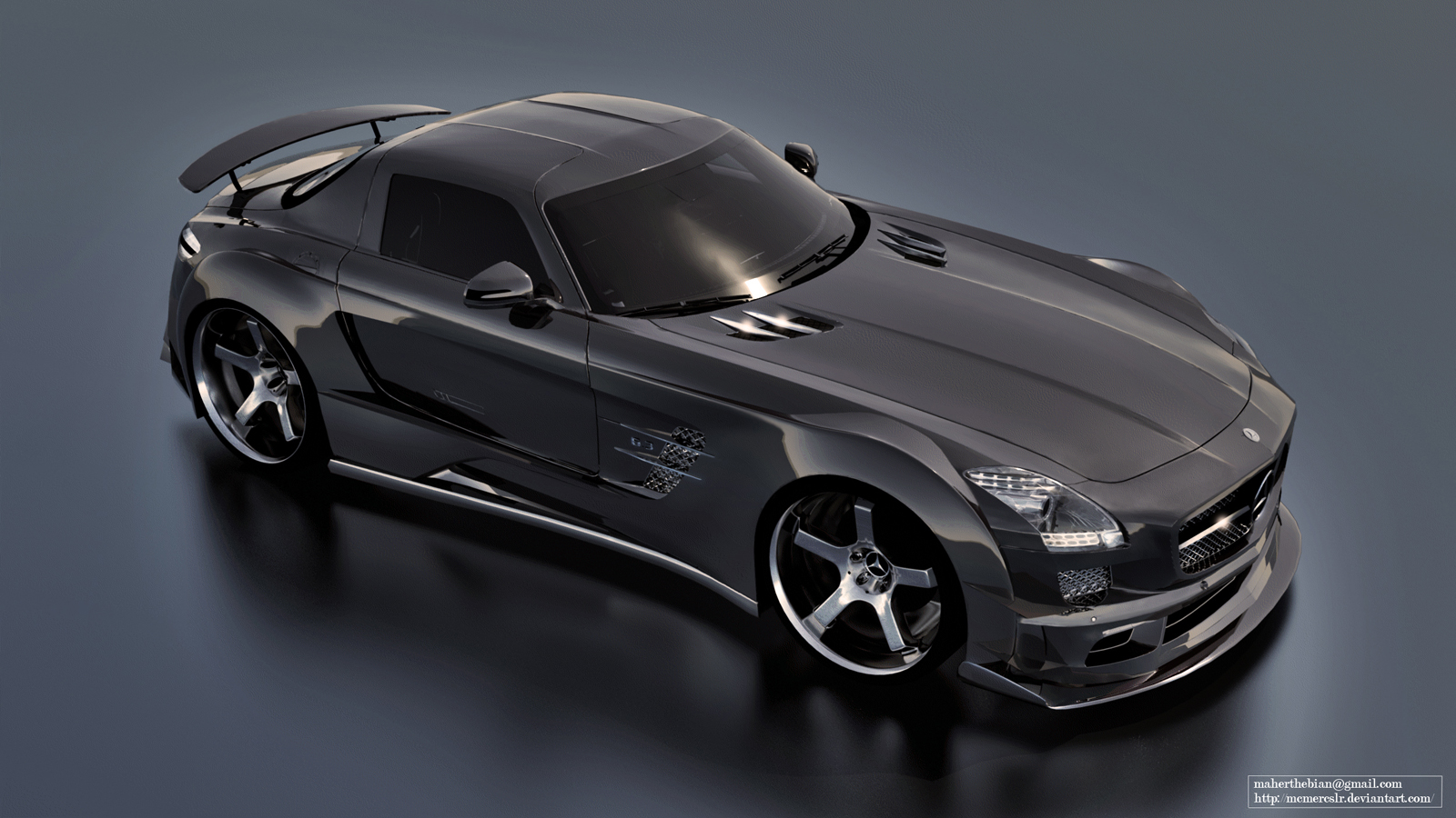 Render: Mercedes Benz SLS AMG Bodykit By Maher Thebian