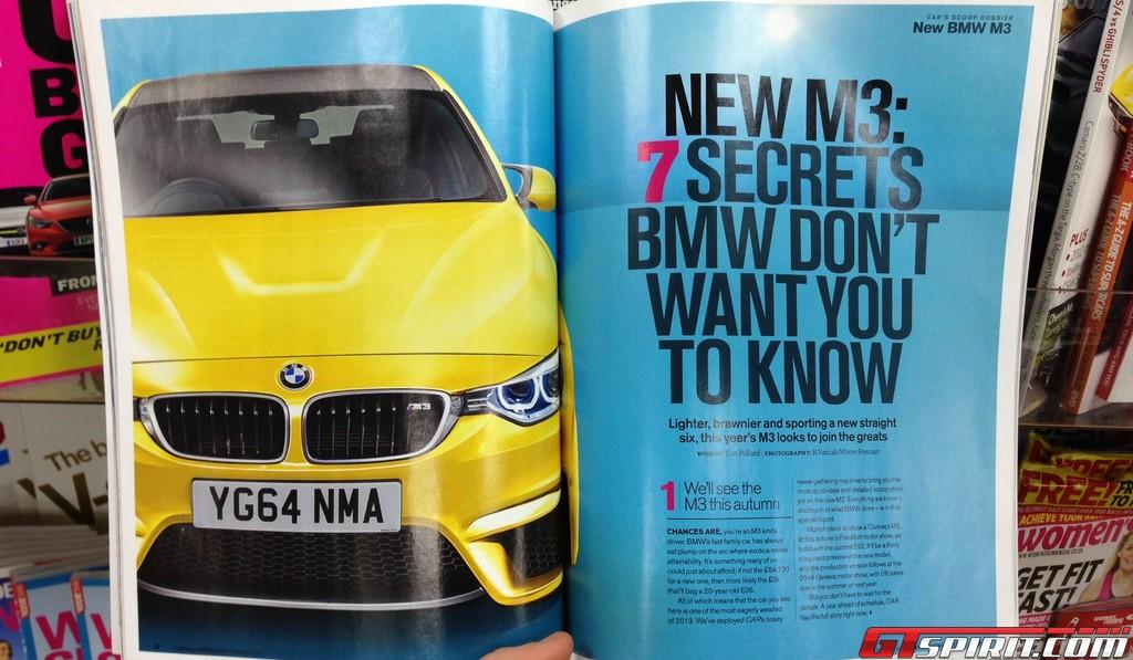 Report: CAR Magazine Previews Official 2014 BMW M3 Shots - GTspirit