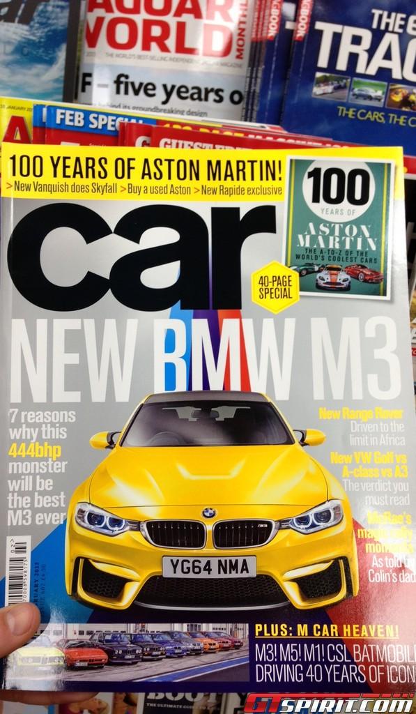 Report: CAR Magazine Previews Official 2014 BMW M3 Shots