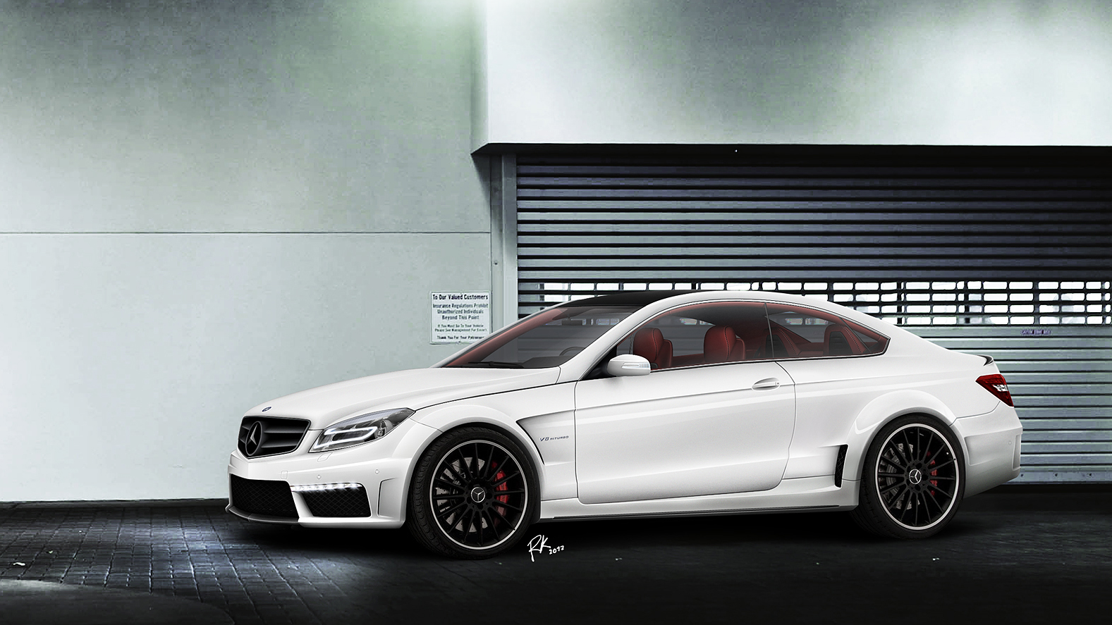 Mercedes benz ce63 amg concept render for Mercede benz amg