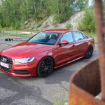 Red Audi S6 Riding on ADV8.1 Wheels