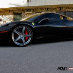 Black Ferrari 458 Italia on ADV.1 Wheels by Wheels Boutique