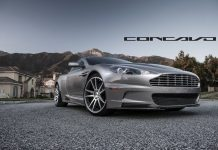 Silver Aston Martin DBS Rolling on Concavo CW-S5 Wheels