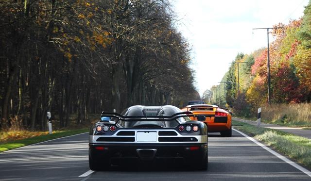 Koenigsegg CCXR and Lamborghini Murcielago