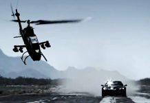 U.S. military Bell AH-1 Cobra Copter Crashes after Racing a Corvette ZR1