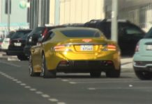 Video: Gold Aston Martin DBS Spotted in Dubai