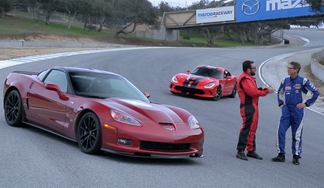 Video: 2013 SRT Viper GTS Pitted Against Corvette ZR1 by Motor Trend