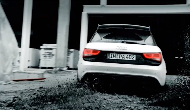 Video: Audi A1 Quattro Doing Gymkhana