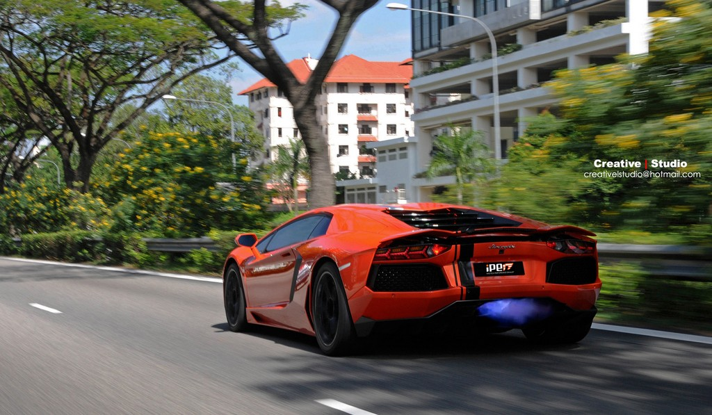 Photo Of The Day: Lamborghini Aventador Shooting Flames