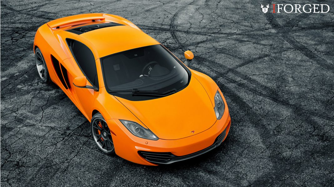 SP Engineering Volcano Orange McLaren MP4-12C on iForged Wheels