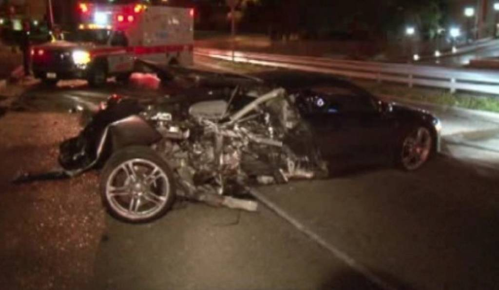 Man Crashes Audi R8 Into Tree in Houston