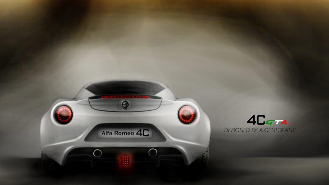 Render: Alfa Romeo 4C by Alesso Centofanti