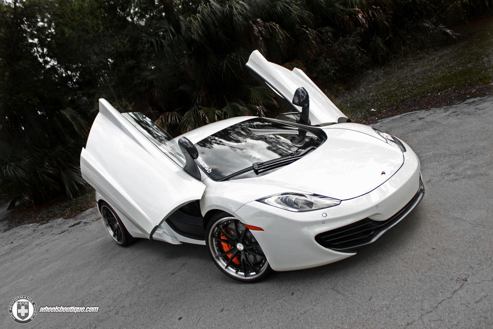 mclaren mp4 12c white. white mclaren mp412c on adv1 wheels mclaren mp4 12c