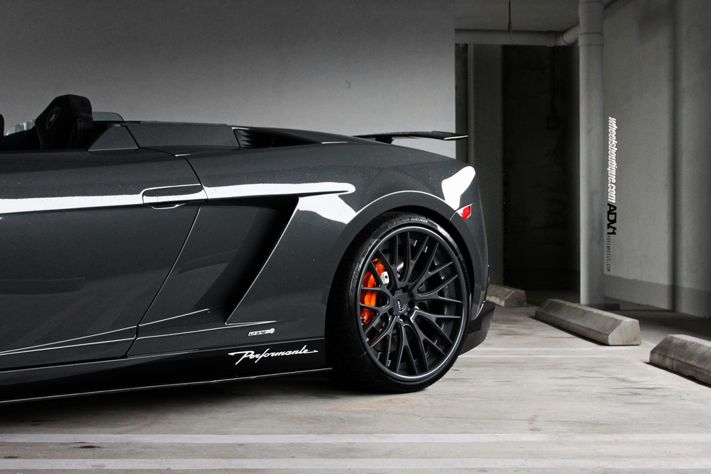 Lamborghini Gallardo Lp570 4 Performante On Black Adv 1 Wheels