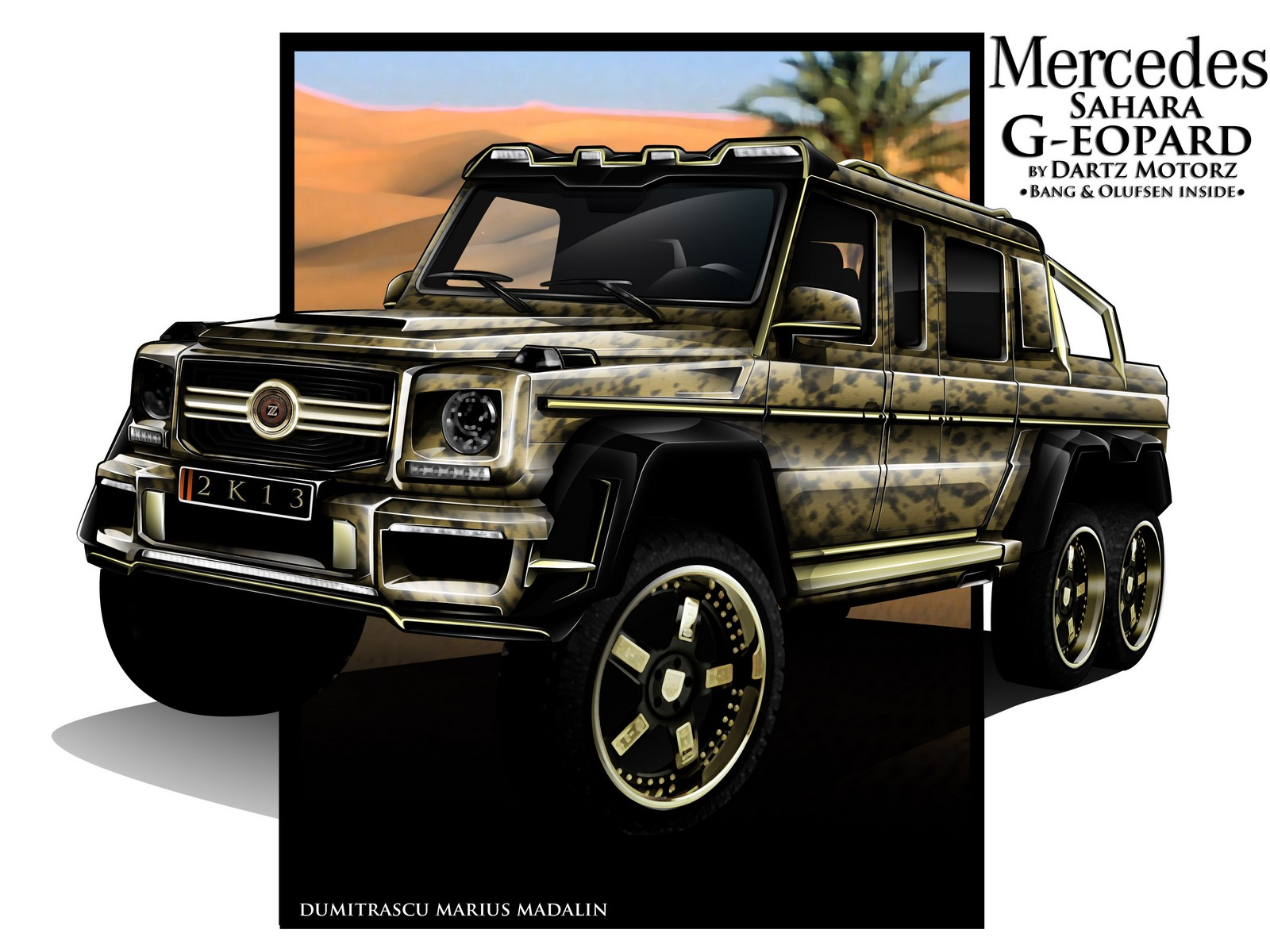 Preview 6x6 mercedes benz g63 amg sahara g eopard by for Mercedes benz clase g