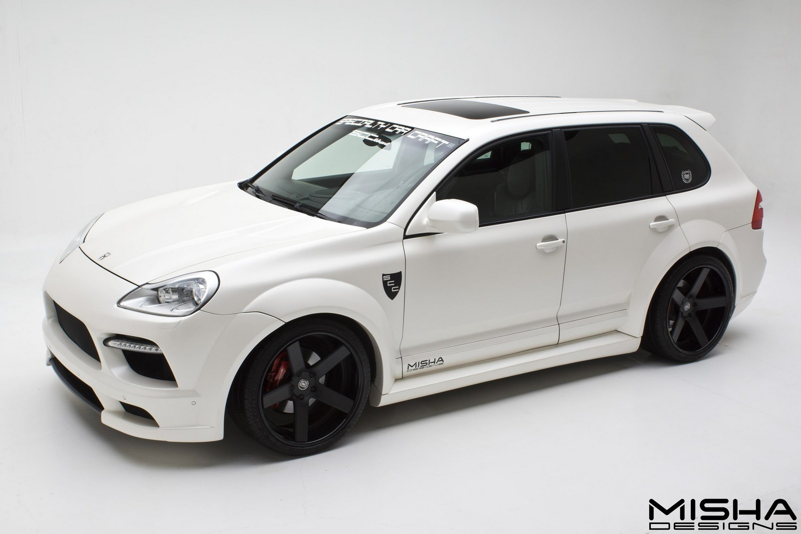 official misha designs porsche cayenne wide body kit. Black Bedroom Furniture Sets. Home Design Ideas