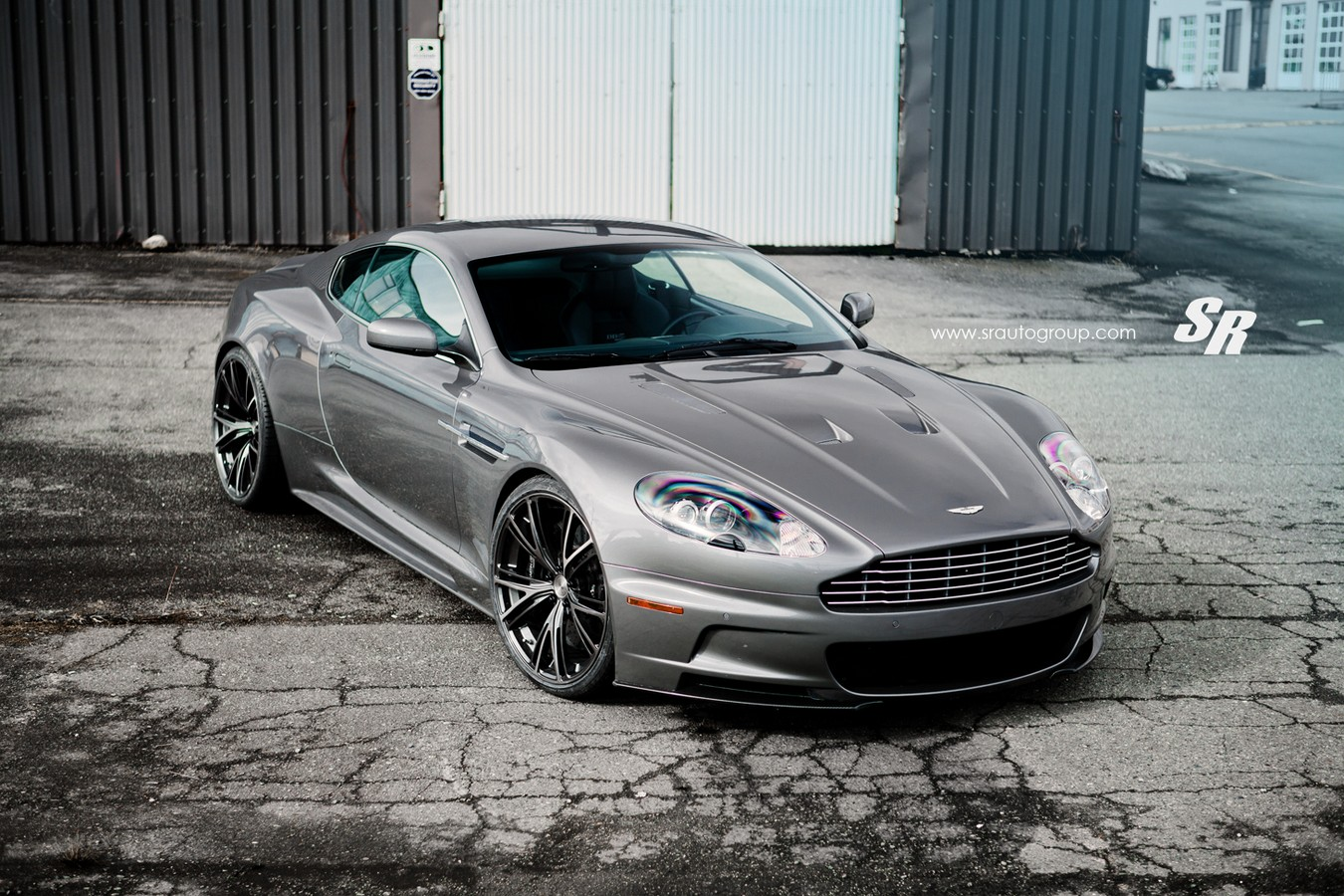 space gray aston martin dbs with pur 9ine wheels gtspirit rh gtspirit com aston martin db9 manual or auto Aston Martin Vanquish