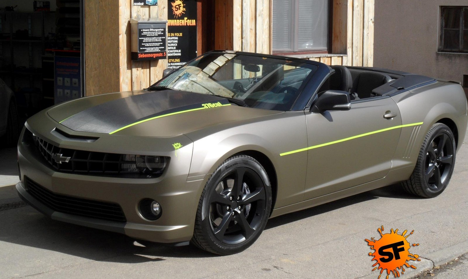 Camaro Ss Cabrio Wrapped In Matte Urban Taupe By Schwabenfolia Gtspirit