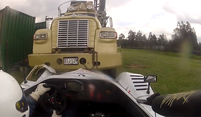 Video: Radical SR8 Almost Crashes Into Massive Truck