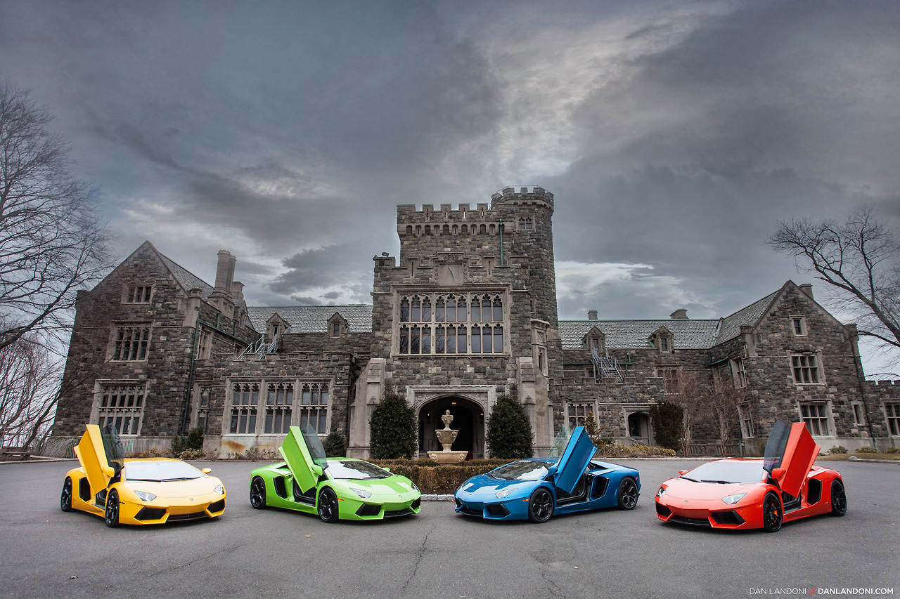 New Video And Images Of Four Lamborghini Aventadoru0027s In New York City