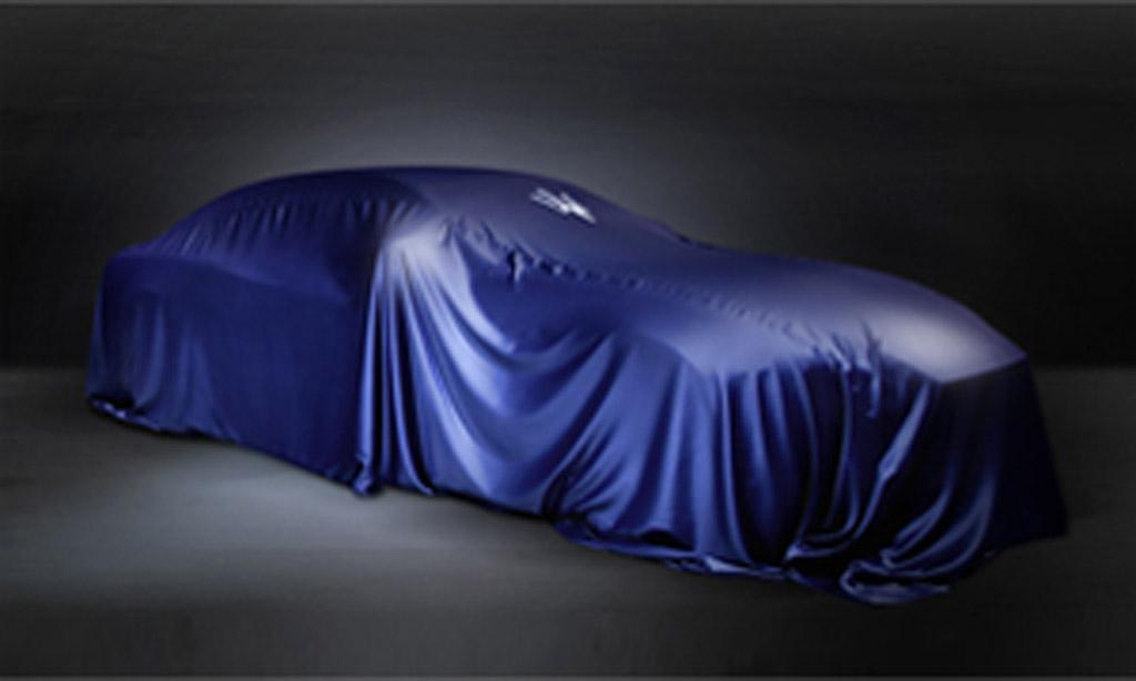 Teaser New Maserati Model For Shanghai Auto Show GTspirit - Show car cover