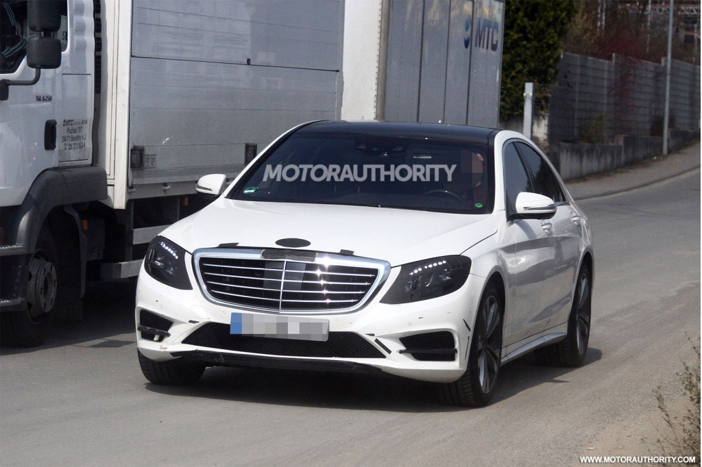 Spyshots 2014 mercedes benz s class snapped again gtspirit for 2014 mercedes benz s class s550