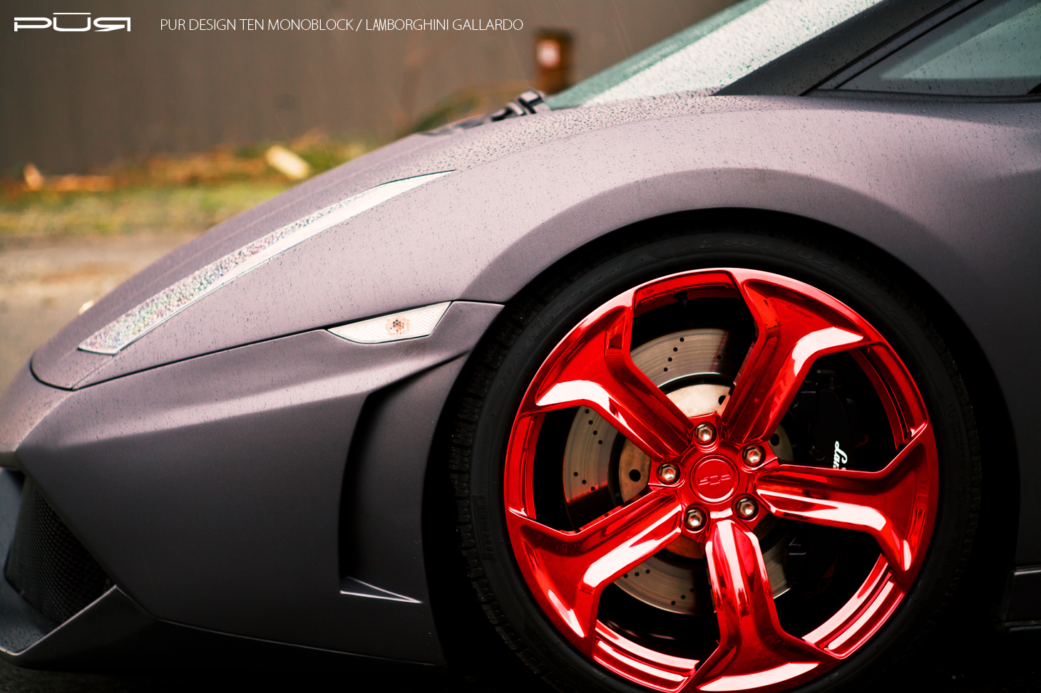 Lamborghini Gallardo Riding On Gloss Red Pur Wheels Gtspirit