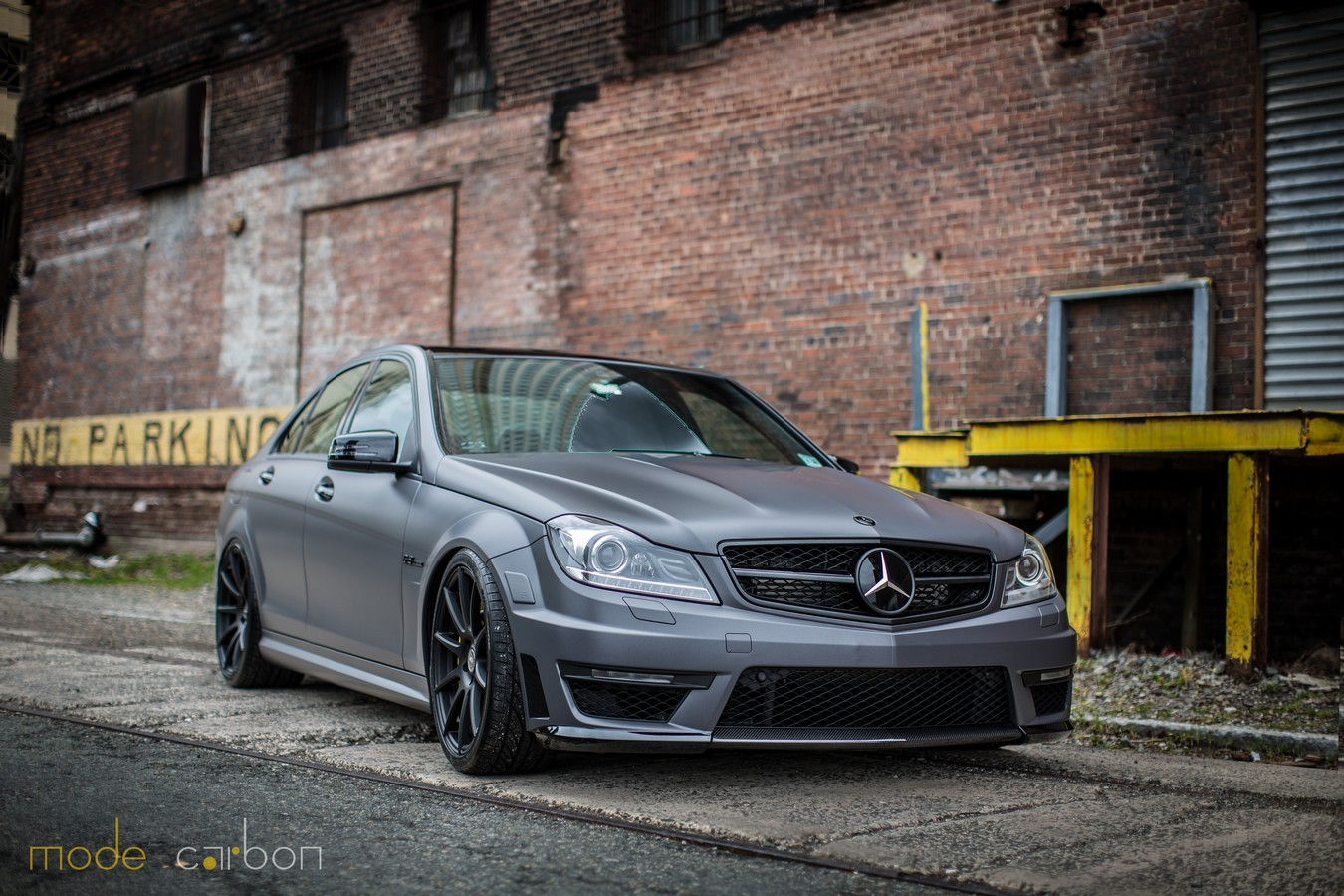 Matte charcoal mercedes benz c63 amg by mode carbon gtspirit for Matte mercedes benz