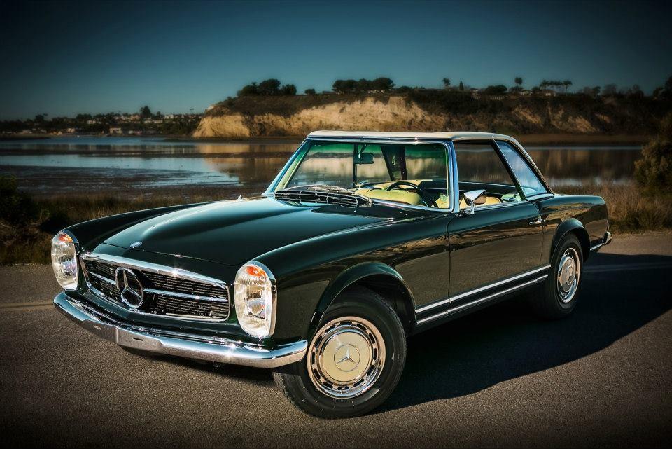 Dark olive mercedes benz 280 sl pagoda complete restore for Mercedes benz 280sl pagoda for sale