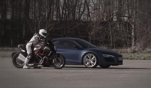 Video Audi R8 V10 Plus Vs Ducati Diavel In 0 150mph 0 Test Gtspirit