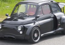 Video: Fiat 500 Shoehorned With Lamborghini V12