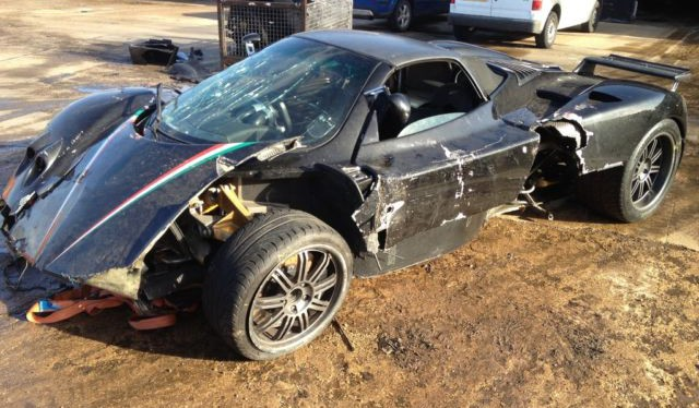 Wrecked Pagani Zonda Roadster For Sale