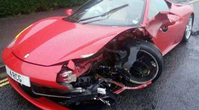 Car Crash: Car Detailer Destroys Ferrari 458 Italia