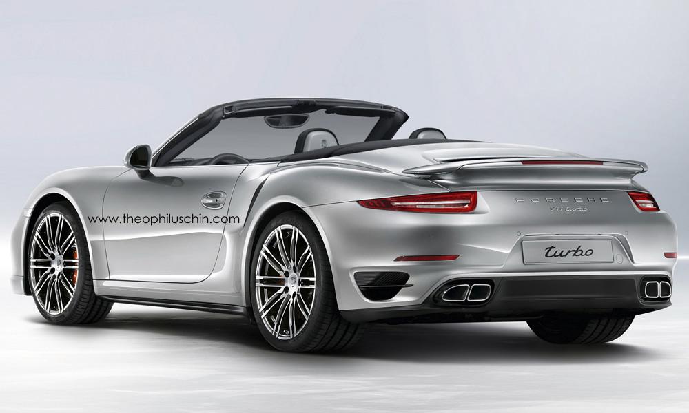 Render 2014 Porsche 911 Turbo Cabriolet By Theophilus Chin Gtspirit