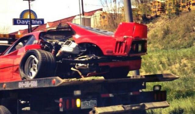 Ferrari F40 Wreck