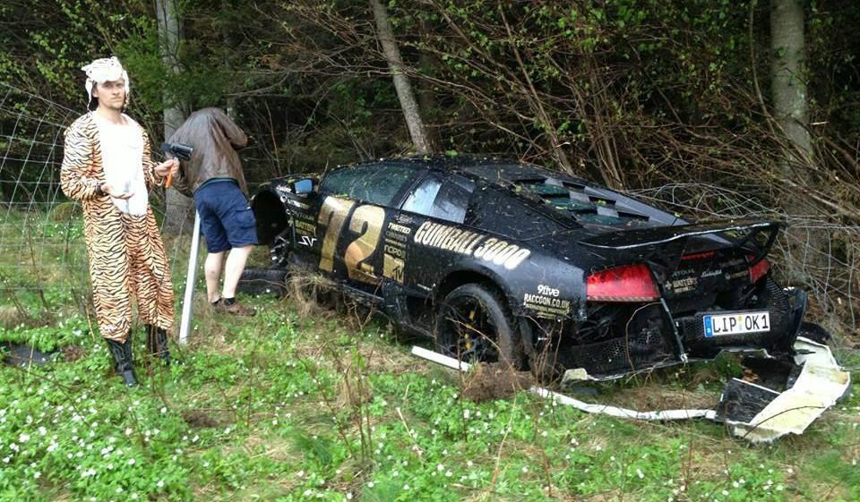 Lamborghini Murcielago Crash on Gumball 3000