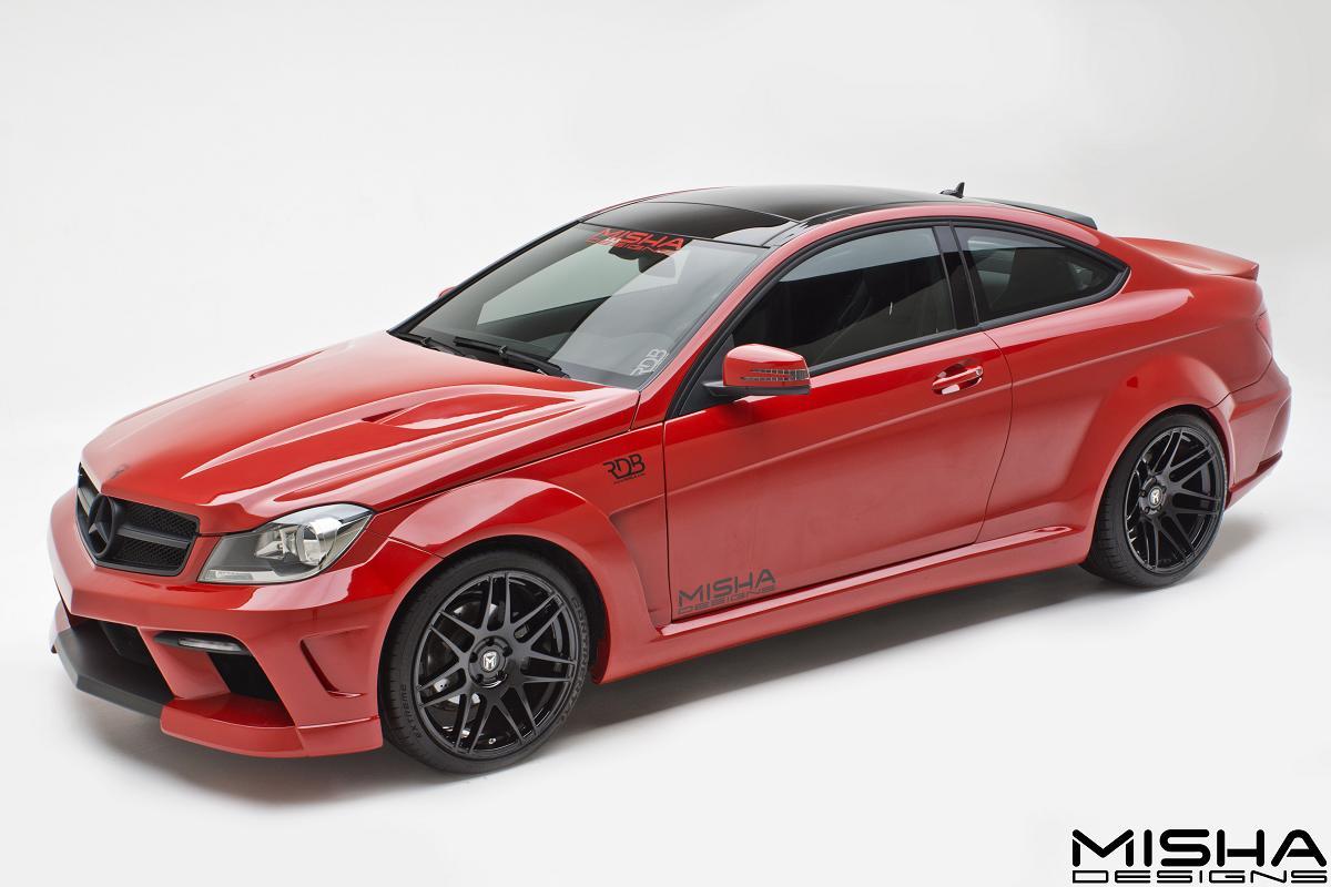Official mercedes benz c class coupe by misha designs gtspirit - Mercedes c class coupe body kit ...