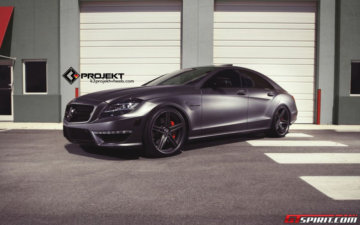 Matte gunmetal mercedes benz cls 63 amg by k3 projekt for Matte mercedes benz