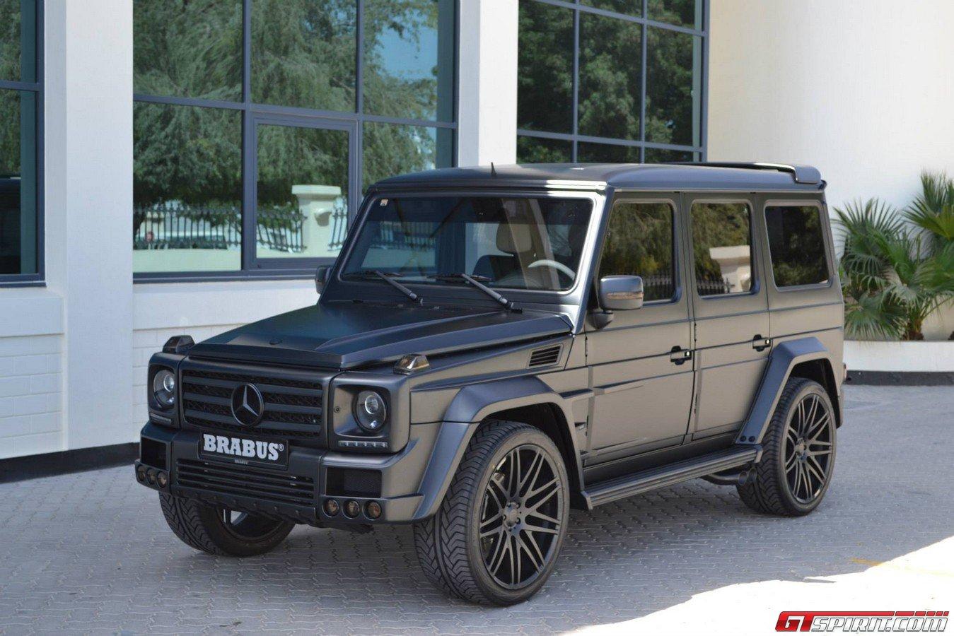 Gallery matte black brabus widestar g55 amg in saudi for Mercedes benz jeep matte black