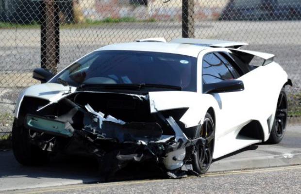 Car Crash Lamborghini Murcielago Lp640 Crashes In England Gtspirit