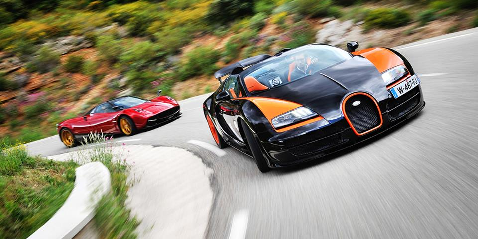 Video: Evo Drives Bugatti Veyron Grand Sport Vitesse WRC and Pagani Huayra