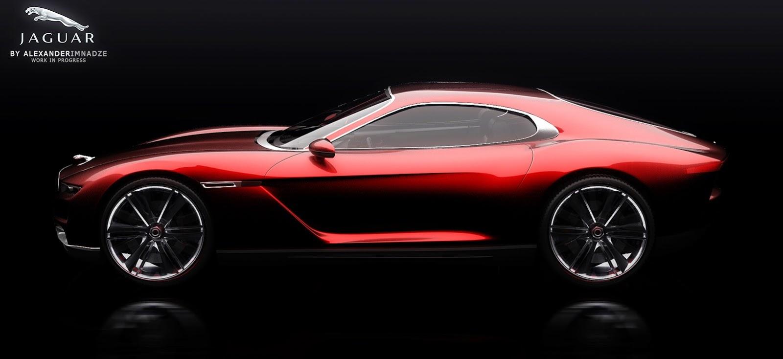 Render Jaguar E Type Concept By Alexander Imnadze