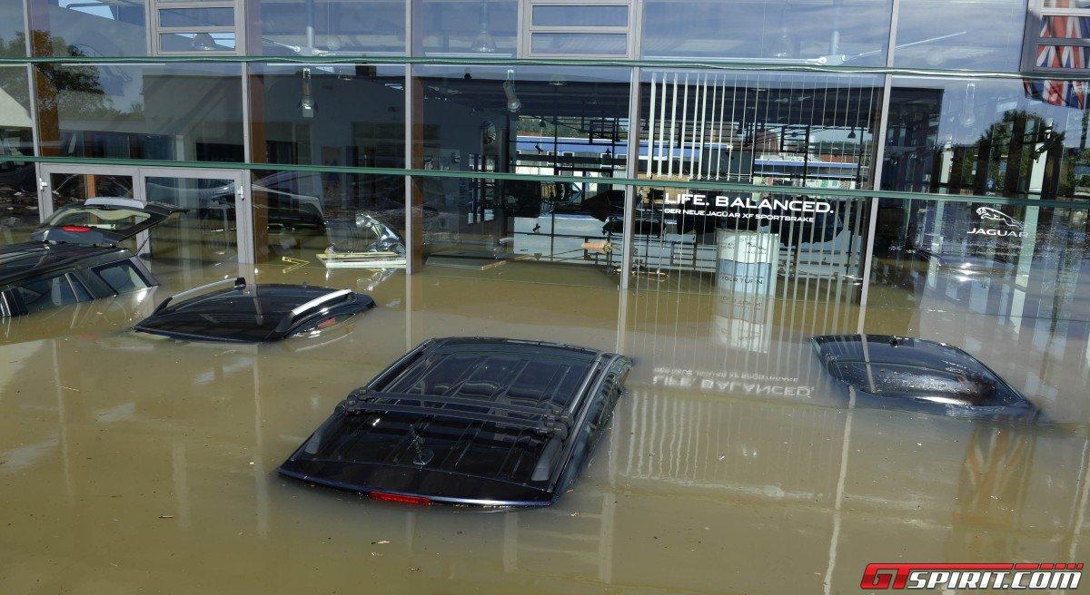 Floods In Bayern Destroy Jaguar Landrover Dealership In Deggendorf Gtspirit