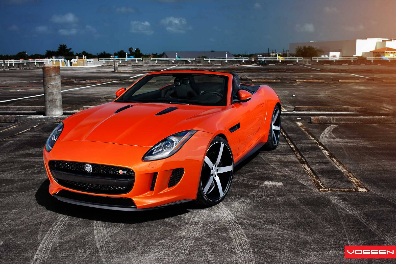 gallery jaguar f type v8 s on vossen wheels gtspirit. Black Bedroom Furniture Sets. Home Design Ideas