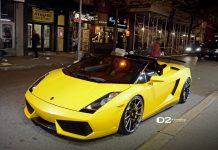 Gallery: Lamborghini Gallardo on D2Forged Wheels at Night