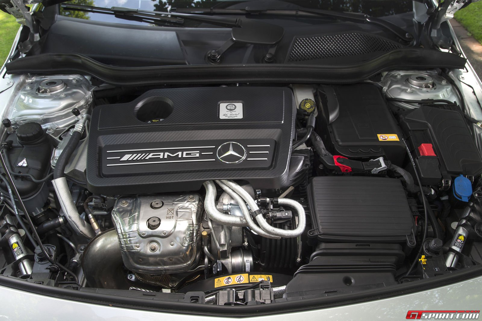 Road test 2014 mercedes benz a45 amg gtspirit for Mercedes benz engine