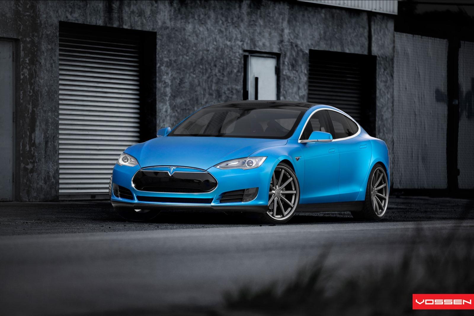 Cars For Sale Miami >> Gallery: Blue Tesla Model S on Vossen Wheels - GTspirit