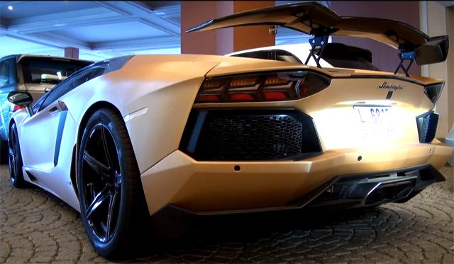 Video Matte Gold Lamborghini Aventador By Oakley Design In Dubai