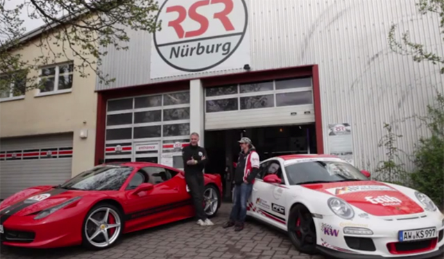 video porsche 911 gt3 rs vs ferrari 458 italia at the 39 ring gtspirit. Black Bedroom Furniture Sets. Home Design Ideas